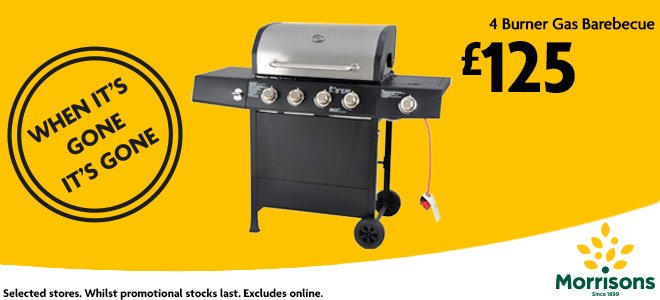 Morrisons On Twitter Quot This 4 Burner Gas Bbq Is The