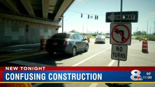 'No left' at construction site snags unaware drivers