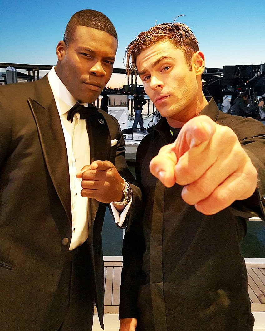 Photo of Amin Joseph & his friend  Zac Efron