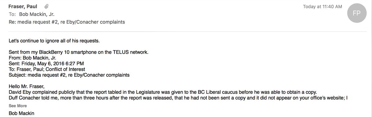 So a journalist asks B.C.'s conflict of interest commissioner for comment and this is what happens. #bcpoli https://t.co/tdZohweFgk