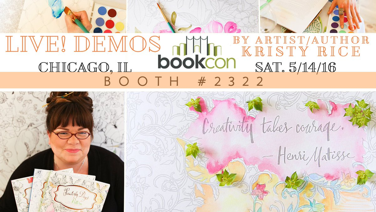 As a guest of @Schifferbooks I'll be demoing my new books @thebookcon! #artforjoysake #painterlydays #thebookcon https://t.co/6PIcWdA0TO