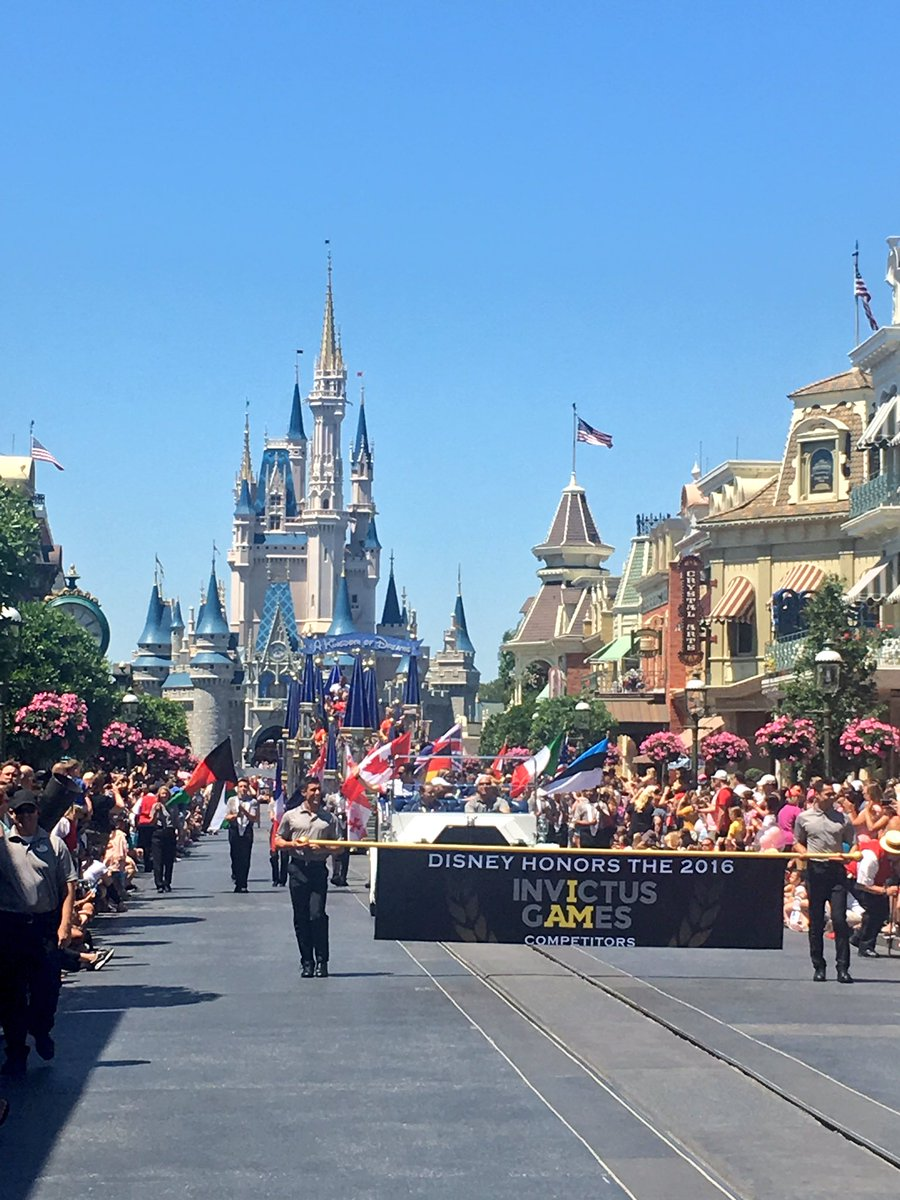 We are welcoming teams competing in the #InvictusGames2016 at Magic Kingdom at @WaltDisneyWorld today! https://t.co/KdlzRSh8rP