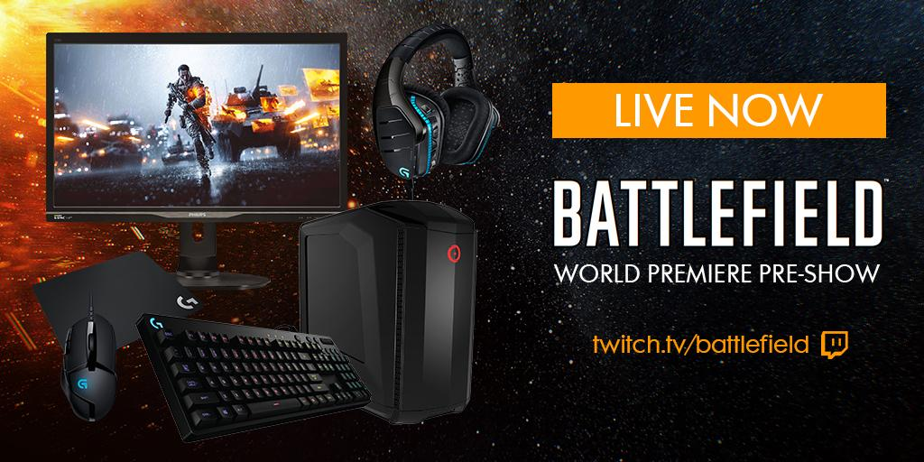 Want an @OriginPC rig, Philips 27-Inch G-Sync 144hz Monitor, & Logitech G prize pack? RT now http://twitch.tv/battlefield