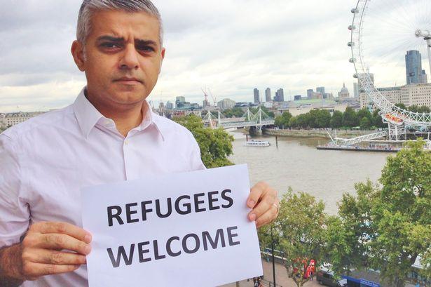 Nella foto Sadiq Khan figlio di immigrati pachistani musulmani, il nuovo Sindaco di Londra