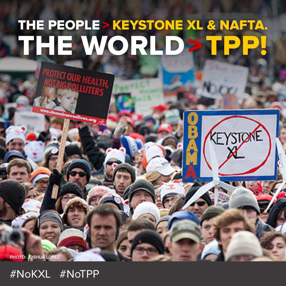 #NAFTA let TransCanada demand $15bn for our #NoKXL win. We say no. #NoTPP #NoKXL. Learn more https://t.co/zL7cpXaHur https://t.co/QUU9rcblaT