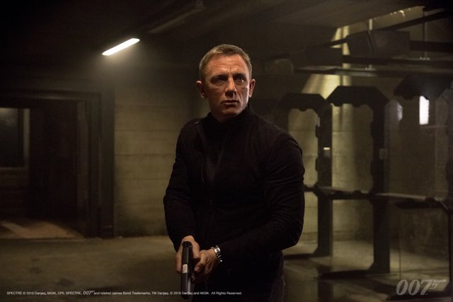 On this day last year, the scene where Blofeld lures Bond into the old MI6 Building in #SPECTRE was filmed.