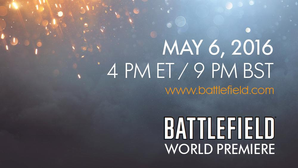 Ready for the future of Battlefield? Tune in to the #Battlefield World Premiere at 4pm ET. http://x.ea.com/4730