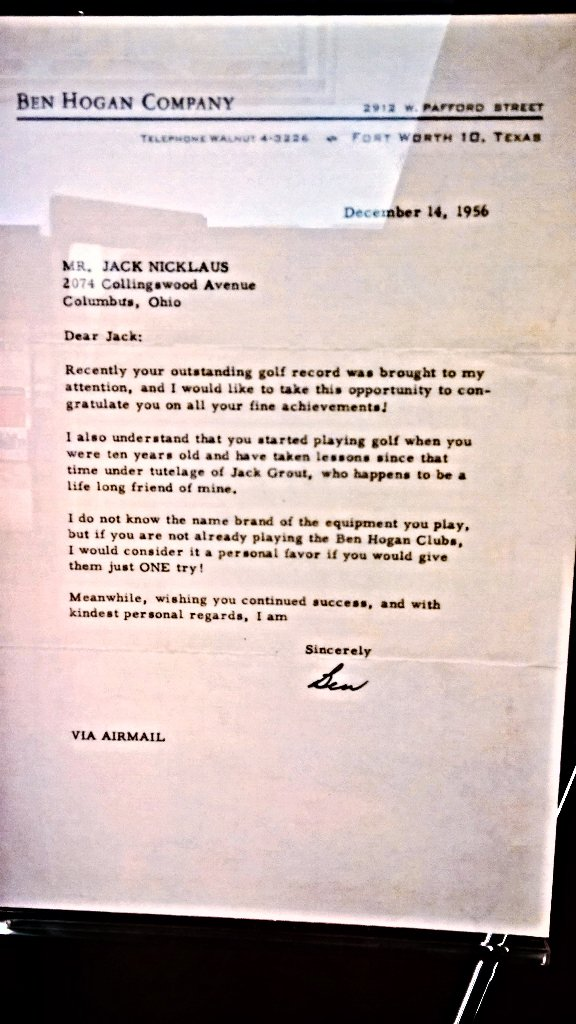 Arguably, the greatest letter EVER sent to a 16 year old junior golfer. https://t.co/AaGEsN935M