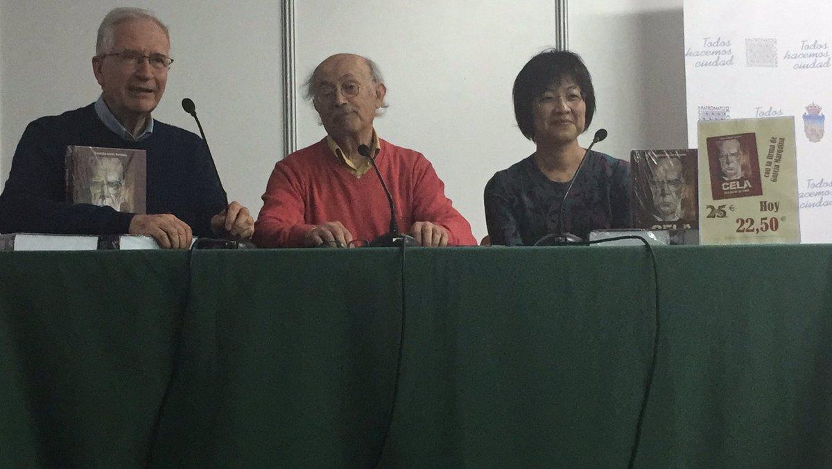 Marquina presenta su libro de Cela junto a Luisa Chang, traductora de Viaje a la Alcarria en chino, y Herrera Casado https://t.co/9ErgZPumkl