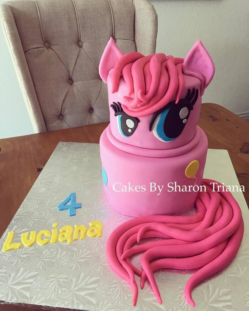 Pinkiepie Mylittlepony Cake Pinkiepiecake Birthdaycake Fondant Customcakes Pink Girlpictwitter EZzKM4rppd