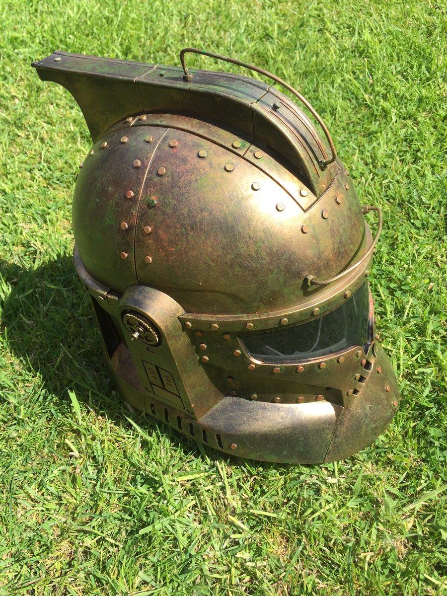 My latest makeover #steampunk #Stormtrooper helmet