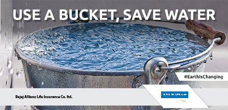 Bajaj allianz life on twitter take a bath using a bucket - Which uses more water bath or shower ...
