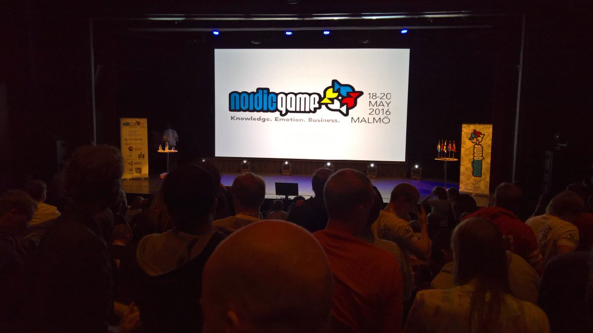 Standing ovation for @steishere after his talk at #NordicGame. Food for thought. One of his best. https://t.co/jWW5PLaAfW