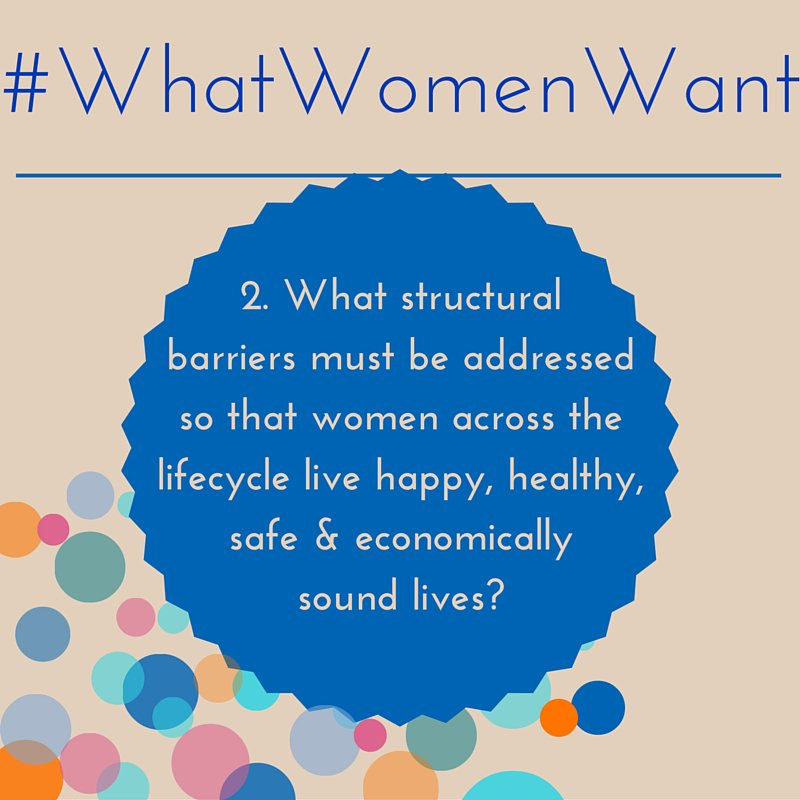 What barriers must be addressed so #women live happy,healthy & safe? #WhatWomenWant @NetworkAthena  @worldywca https://t.co/KXoK0O1YhI