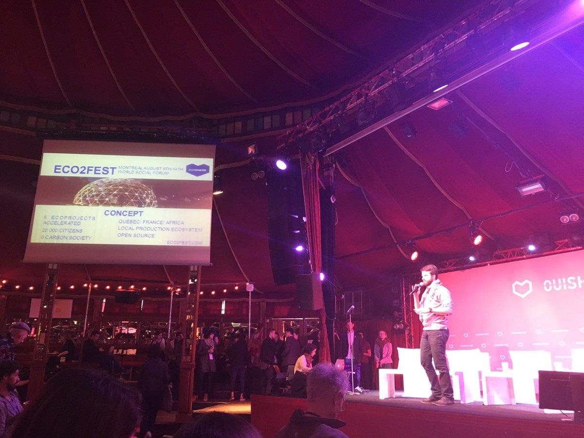 @Alex_J2B annonce #eco2fest au @OuiShareFest #OSFEST16 #eco#sustainabledec#opensource#poc21#FRQC https://t.co/j9GWBz6Gnv