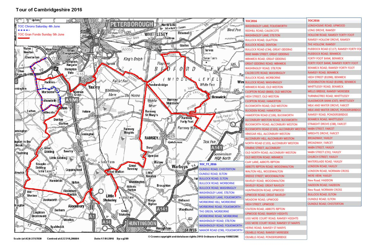 MAJOR EVENT: Various roads CLOSED in Hunts & Fenland for @thetourofcambs  4-5 June 9:30am-8pm See map for details. https://t.co/dDbiPl5LPW