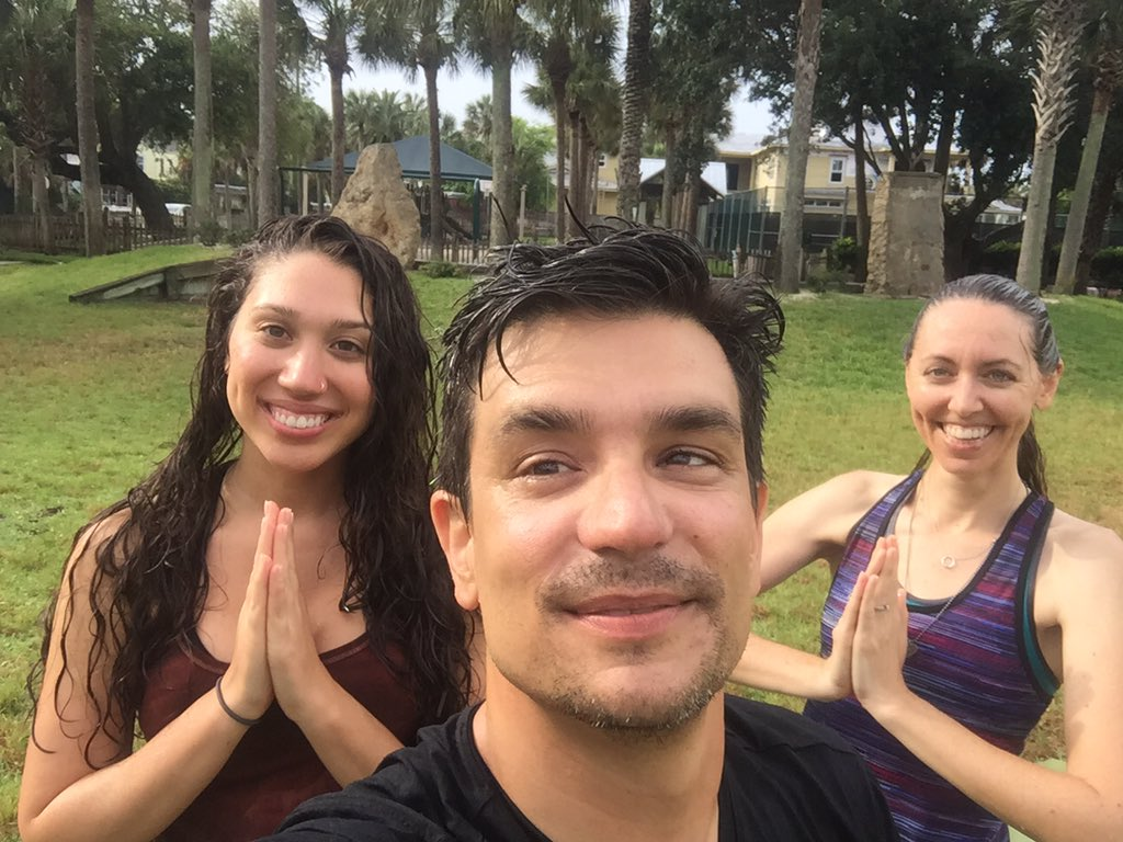 When God rains on your plans, practice in the rain.  #RainYoga @beachesmarket #MidWeekYoga https://t.co/WOBR71VFFh https://t.co/3OyhrRCAfb