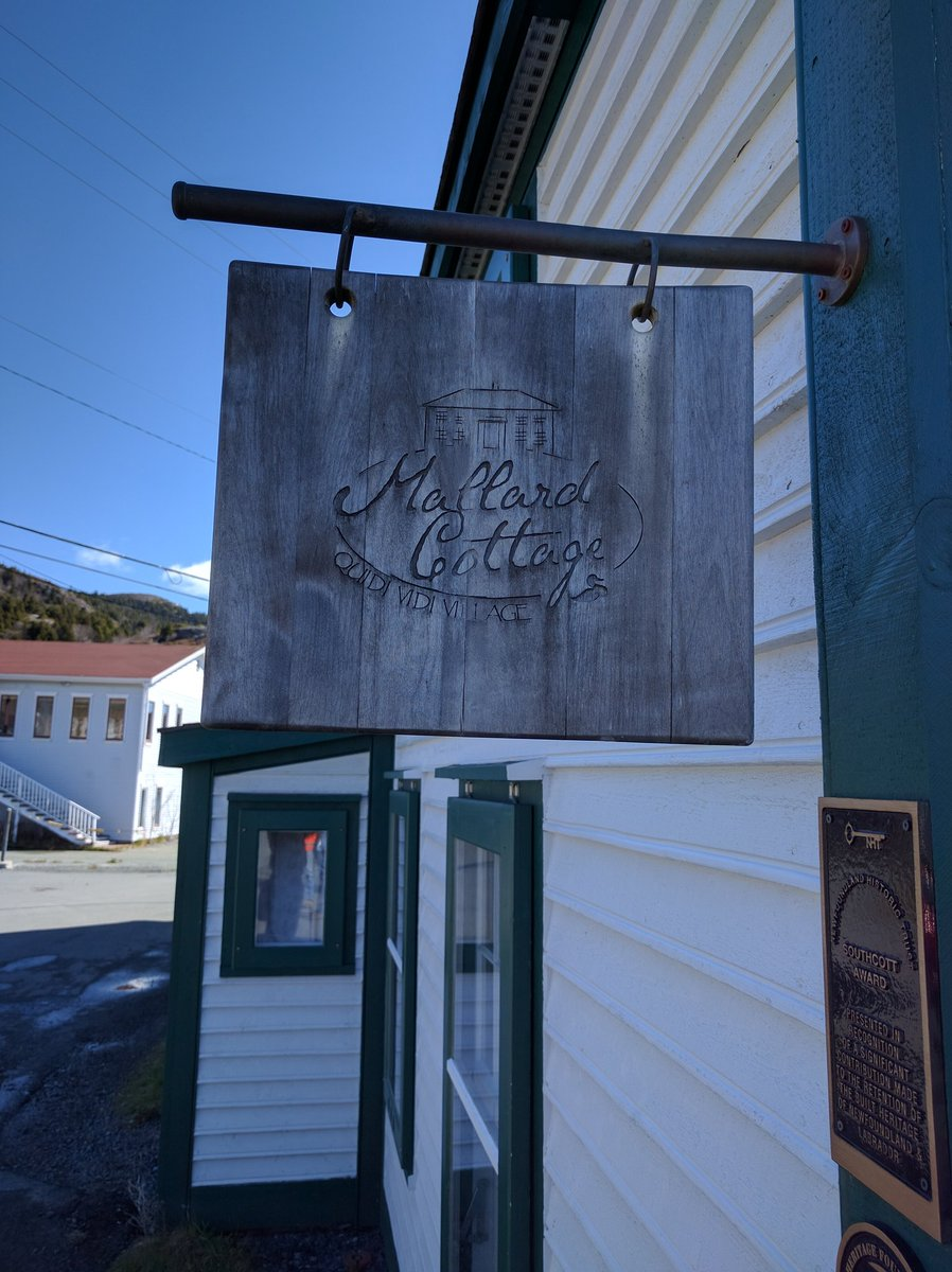 Entrance Sign at Mallard Cottage in St. John's, Newfoundland