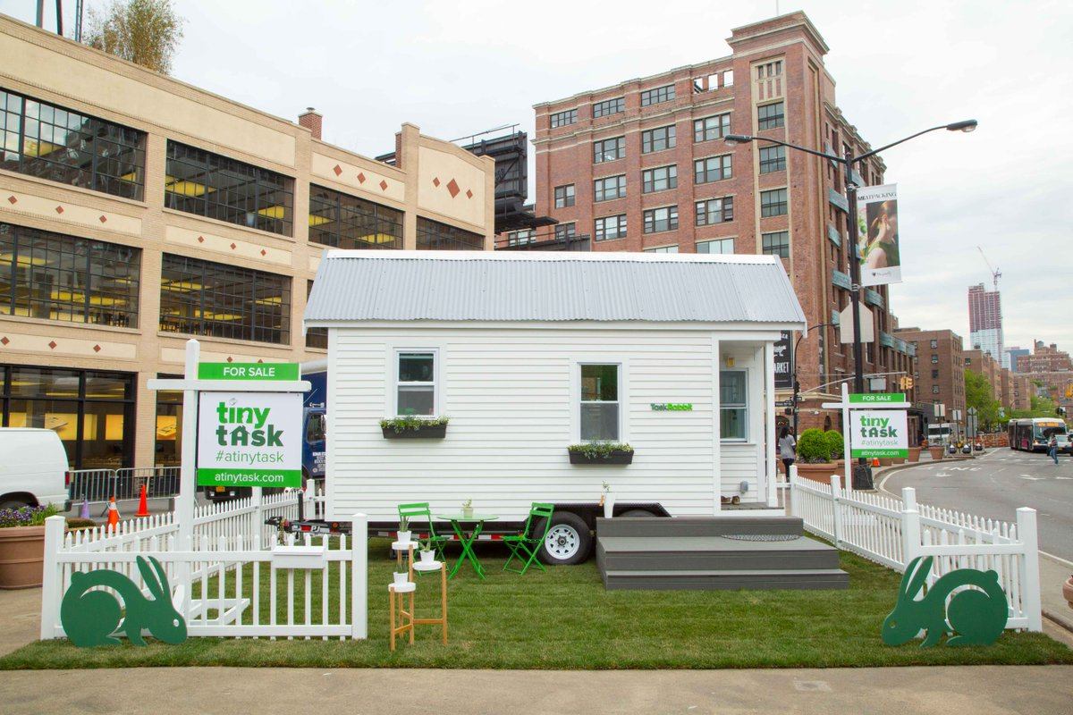 And...we're open! Officially introducing the @TaskRabbit Tiny Home! Bid to win & support @cmtysolutions #ATinyTask https://t.co/l8PGP09roZ