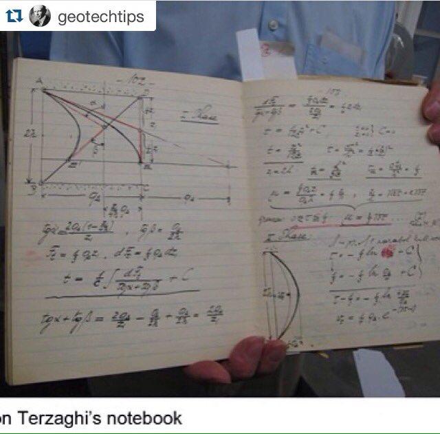 El cuaderno original de Terzaghi
