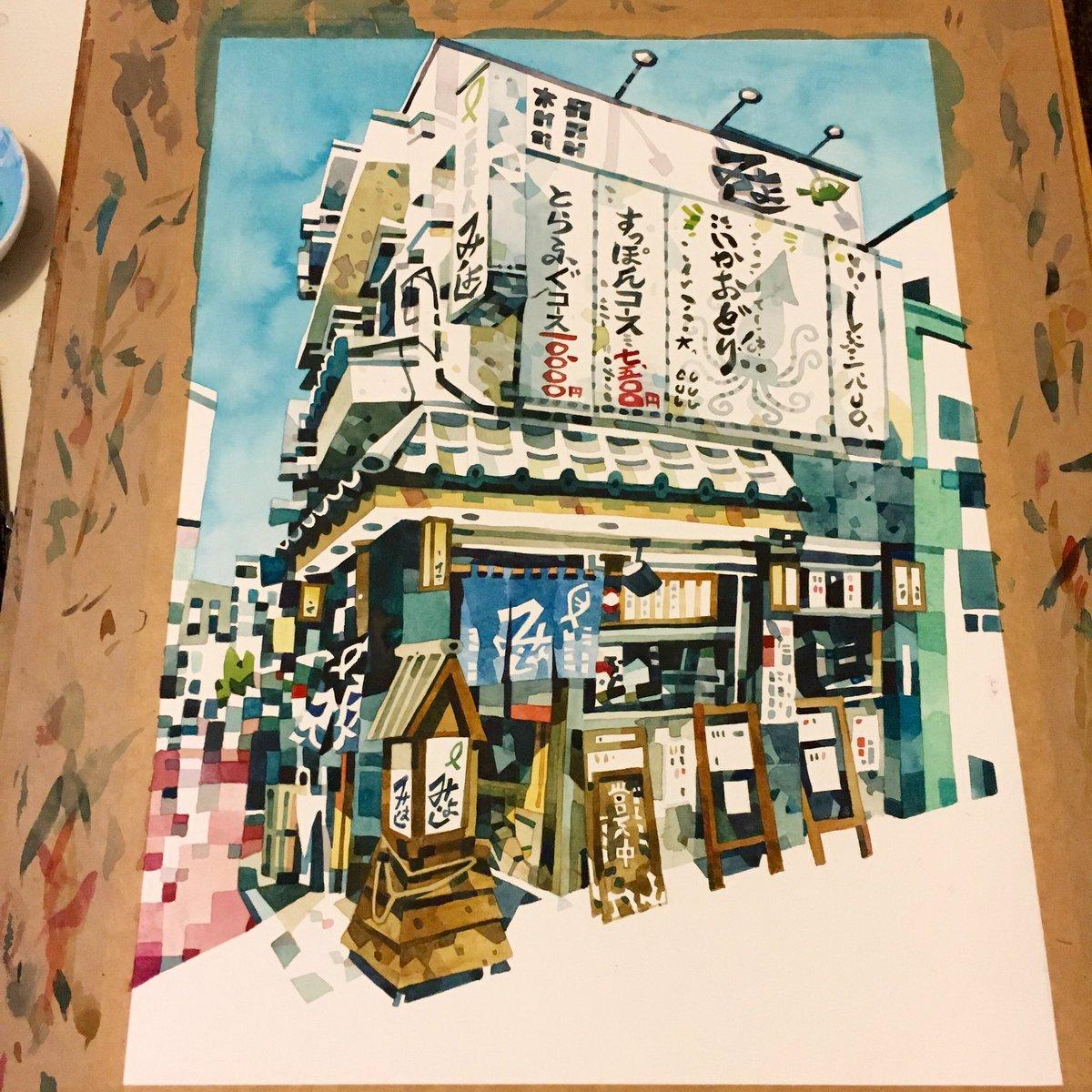 Think I'm done. Street corner restaurant in Asakusa, Tokyo. https://t.co/ETGAcye1y6