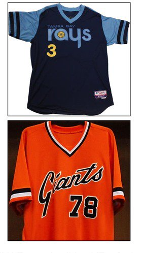 Rays, Giants to go '70s retro for June 18 Turn Back the Clock game