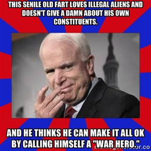 MT @EMichaelGannon: There's #RINO s and then there is RINOsaur Juan #McCain. Vote #KelliWardAZ. https://t.co/TY5XbgXSNF #RetireMcCain #PJNET