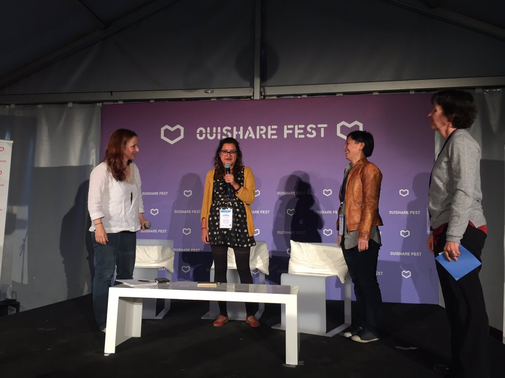 #womanityaward And the winner are Jac SM Kee & Lulu Barrera for Take back the tech! Congrats #ict4womanity #OSFEST16 https://t.co/LVGjMUvkL7