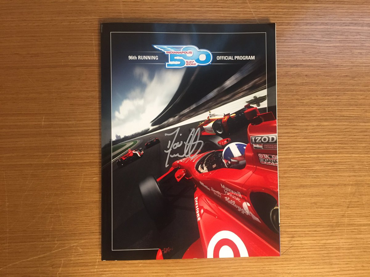We just hit 90K followers so were giving away this @dariofranchitti autographed #Indy500 program! RT to win! https://t.co/D8wbFvchcG