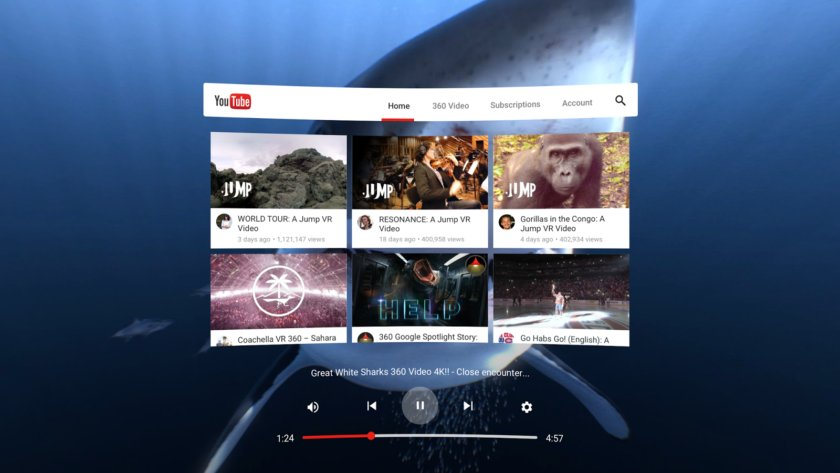 Here's what YouTube's virtual reality app will look like