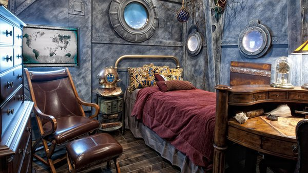#Steampunk Awesome of the Day: Incredible #JulesVerne Inspired Bedroom #Design via @_gallina_ #SamaCuriosities