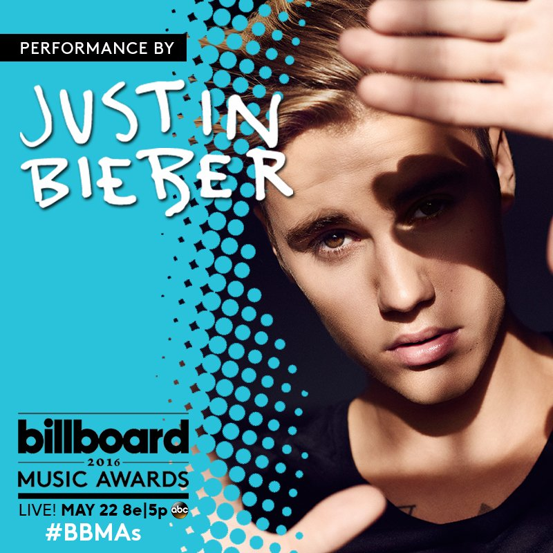 The one & only @justinbieber  performs Sunday, May 22nd live at the Billboard Music Awards - #WISN12 starting @ 7 pm