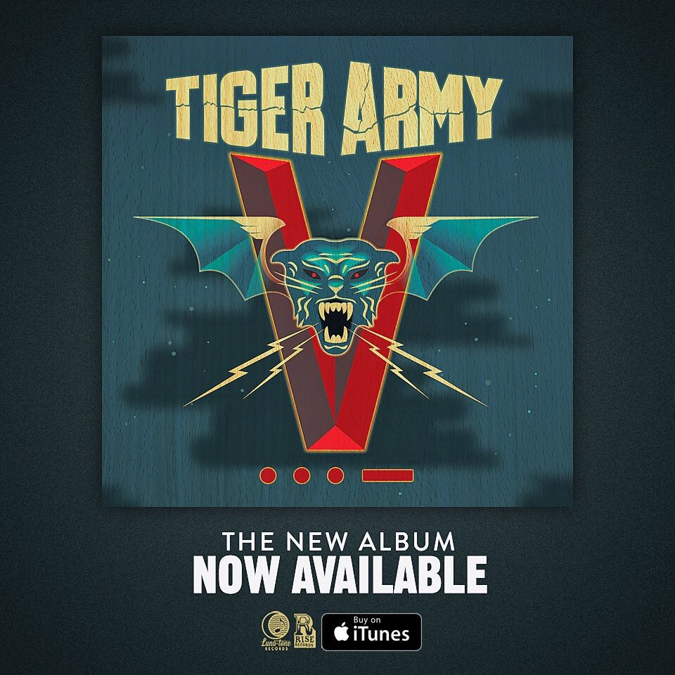The new @tigerarmy is up at @iTunes now. I like that people are hearing it for the first time at night. https://t.co/KQZ7rI9bOn
