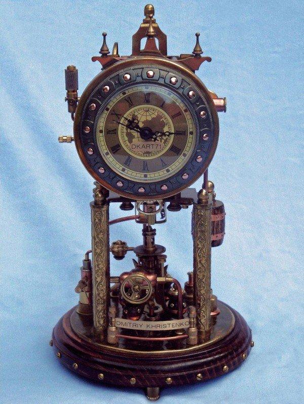 #Art Awesome of the Day: #Steampunk #Clock by Dmitriy Khristenko (100+ hours work, 2012) v @steampunkjnkies #SamaArt