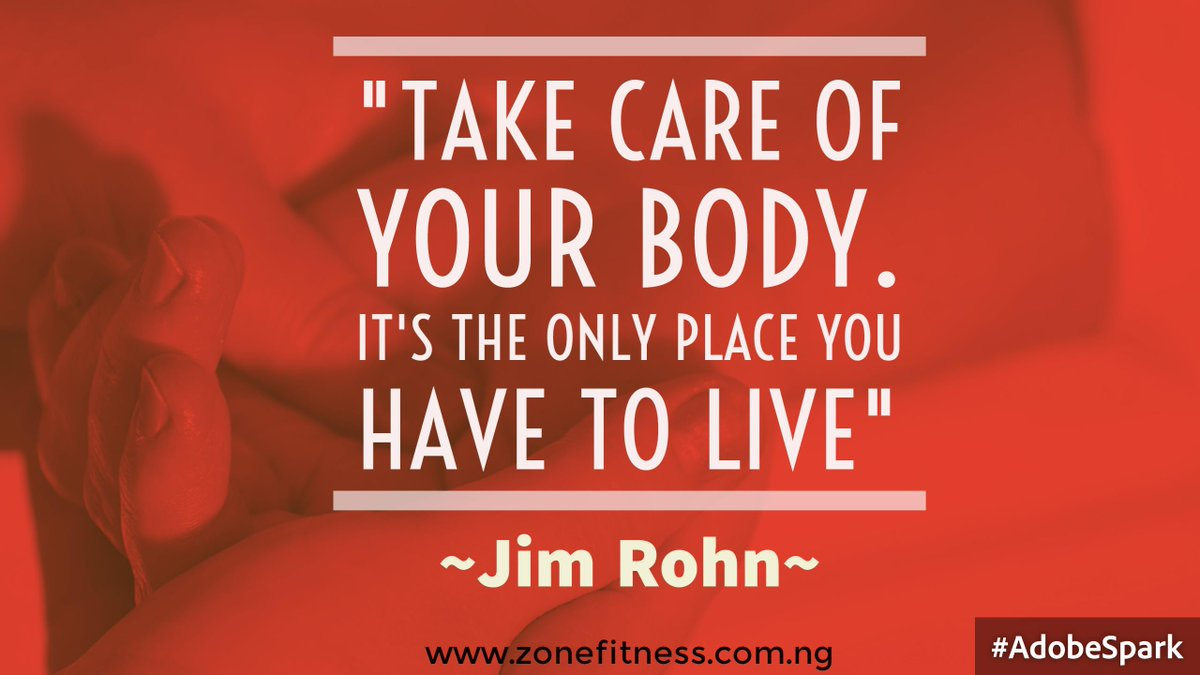 Your body is your only contact with the earth. Take good care of it. https://t.co/Q711tFAs1h