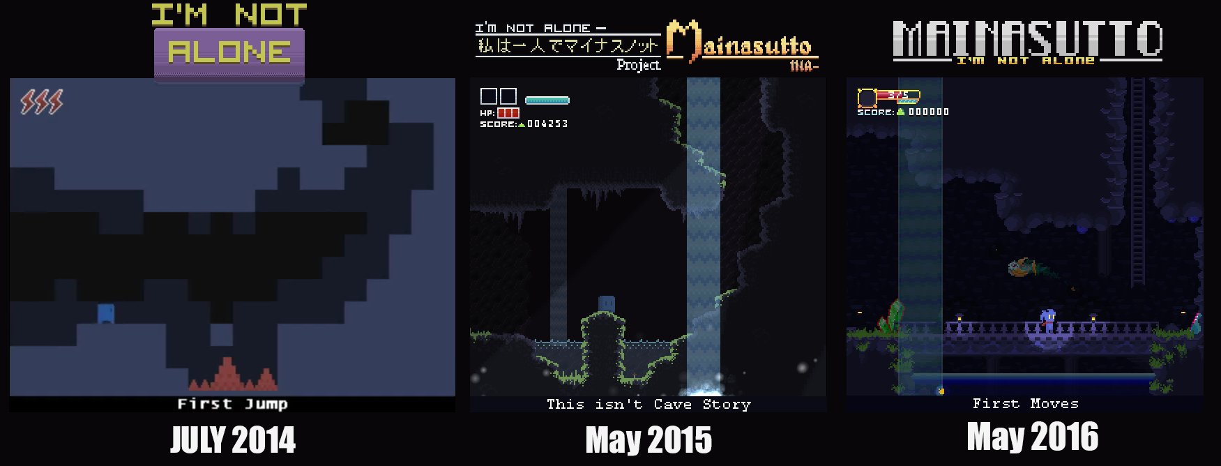Mainasutto: I'm not Alone || A Cave Story like metroidvania
