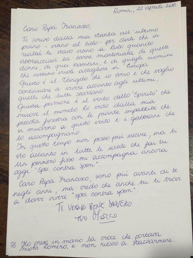 La commovente lettera di Pannella al Papa: