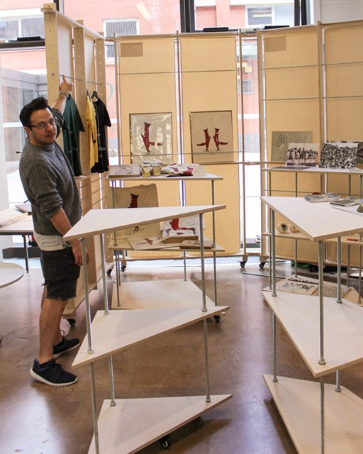NEWS! pop-up shop @cardiffmet CSAD! Designed and made by Sam Davis, introducing the work of students and graduates!
