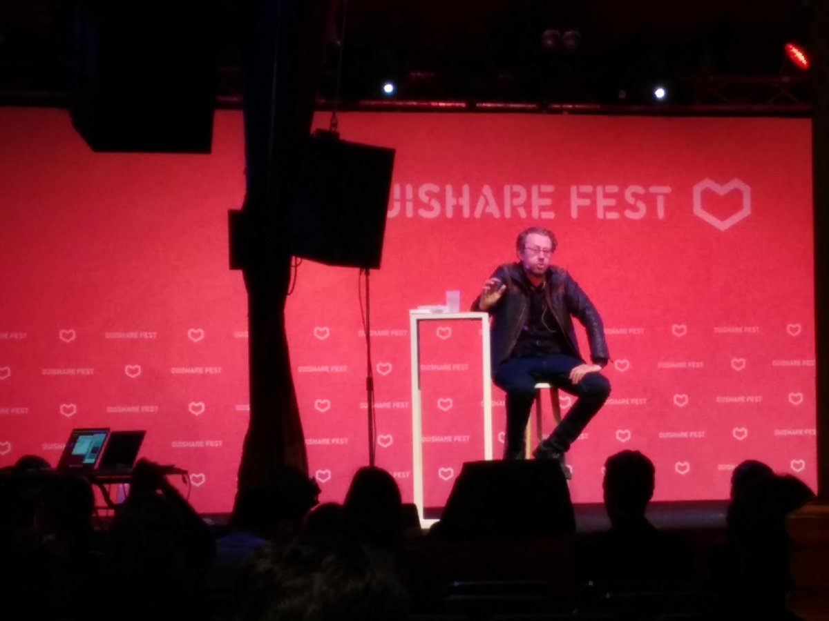 """Our hyperindividualism is keeping us from making our next evolutionary step"" @DanielPinchbeck on stage #OSFEST16 https://t.co/qbm6yBU3Va"