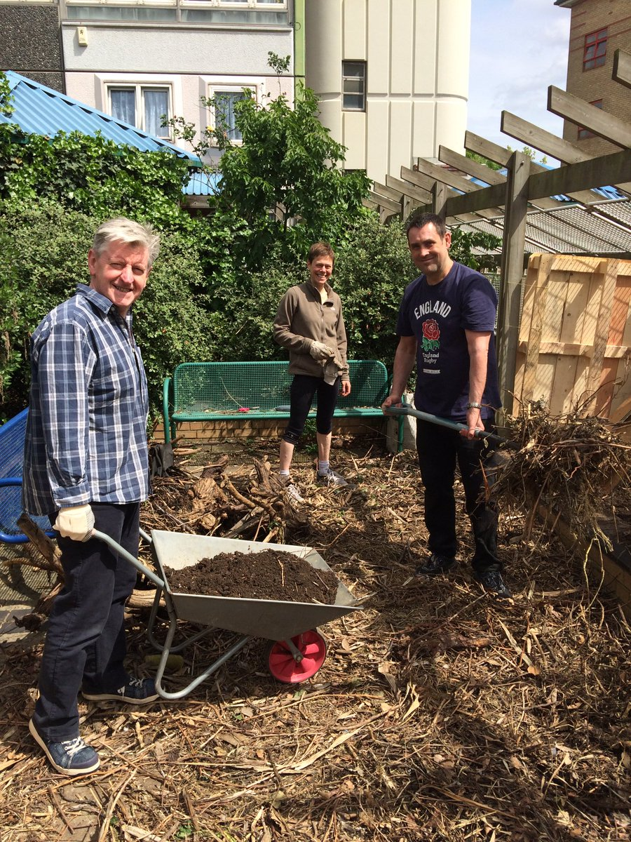 The Local Partnerships composting team in action! @DoddGarden #giveandgain