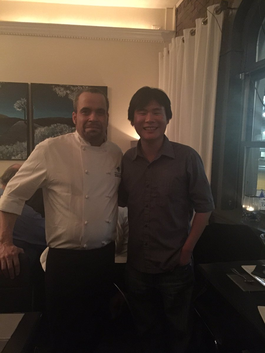 Chef Leon John with Travelling Foodie at Magnum & Steins, St. John's, Newfoundland