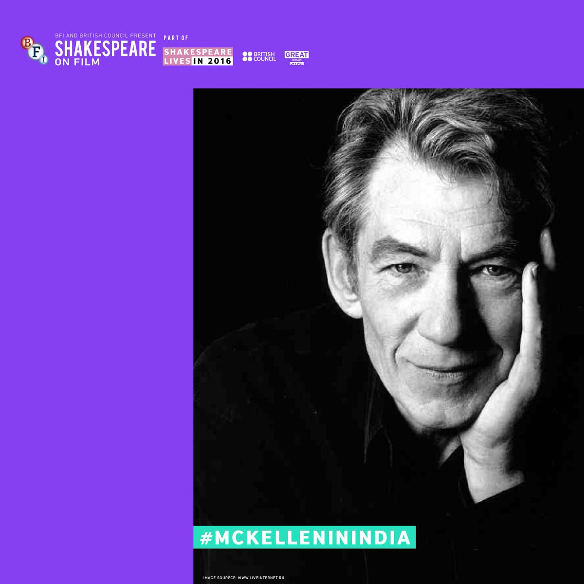 Block the dates! Catch Sir @IanMcKellen LIVE on twitter on 22 May, between 3-4pm. #McKelleninIndia #ShakespeareLives https://t.co/v2c898Q5mL