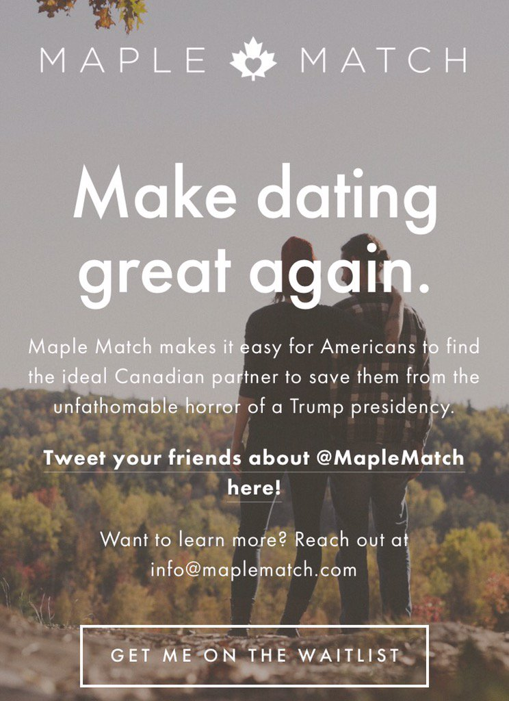 Feb 2018. The site, with a mission statement of Making Dating Great Again refrains from political jousting.