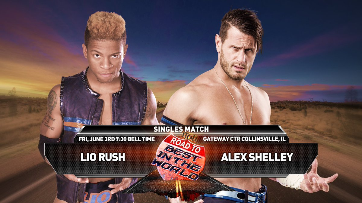 LIO RUSH vs ALEX SHELLEY signed for Collinsville June 3rd