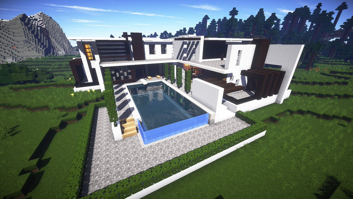 "JerenVids on Twitter: ""Modern luxury house in #Minecraft by"
