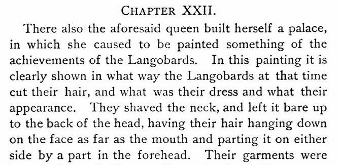 Moore reads out Peter the Deacon's description of Lombard hairdos. Pause as audience imagines this.   #ConnieCon https://t.co/km2tcmg1xu