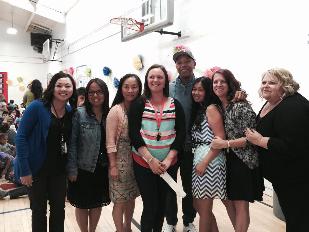 RT @MalissaShriver: Russell Simmons loves teachers Fremont Lopez@TurnarndArtsCA #ArtsEducation https://t.co/hIg1uvGpUl
