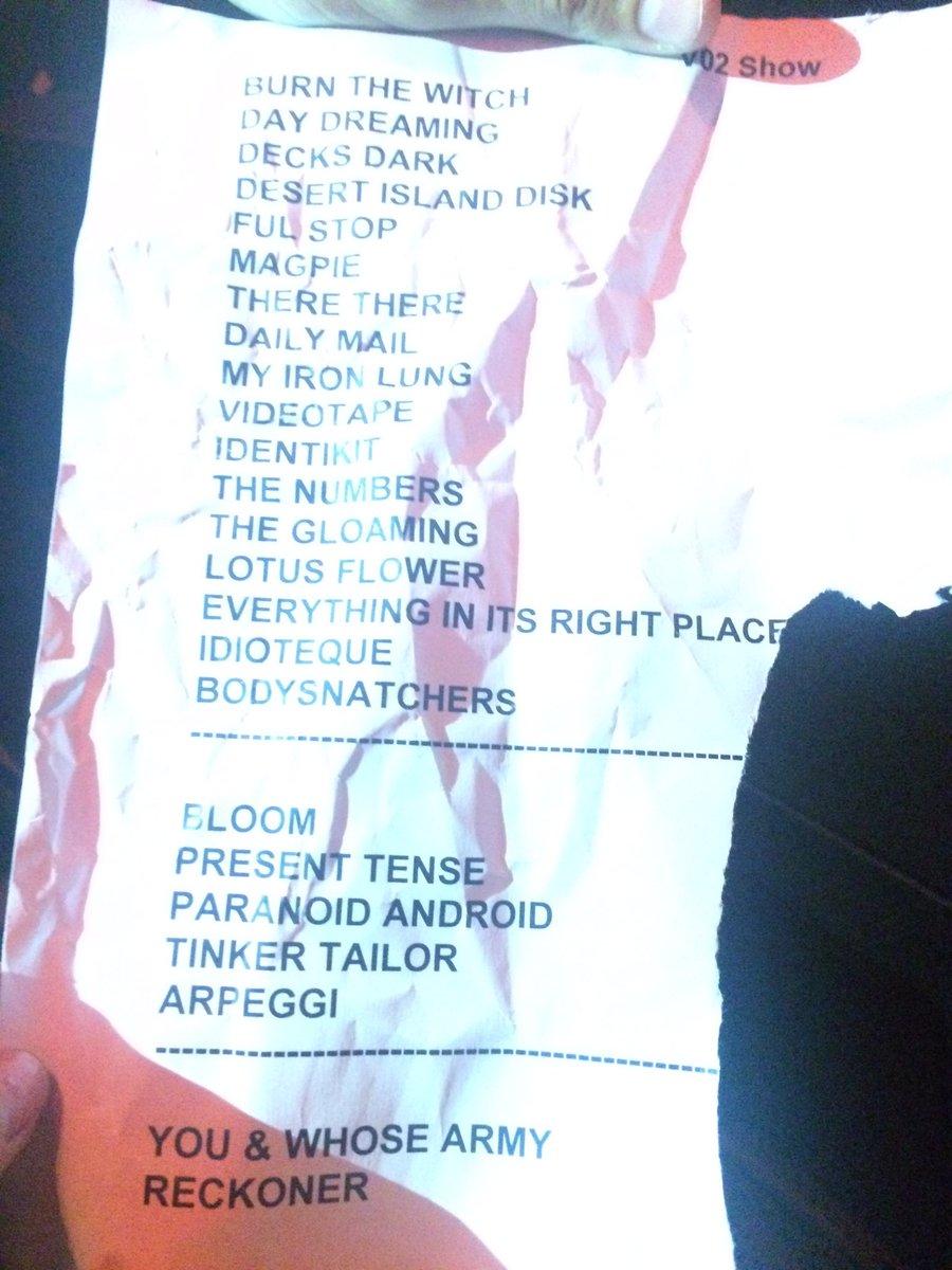 Amsterdam setlist radiohead amsterdam setlist izmirmasajfo
