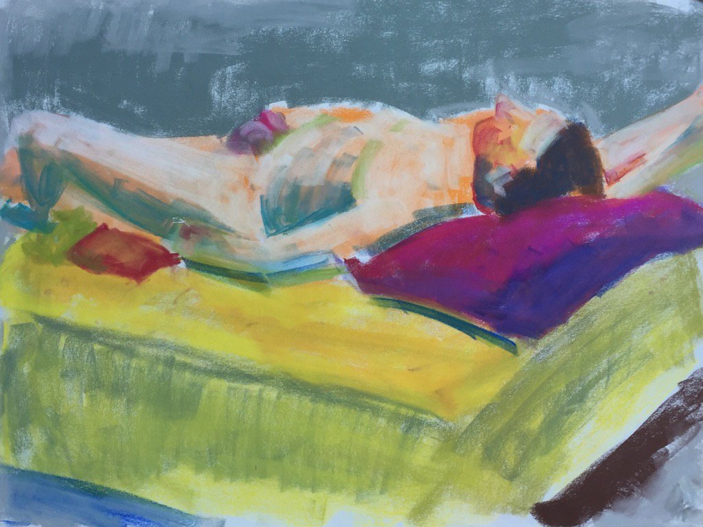 No.1494 Model Study #figurepainting #pastel #drawing #lifepainting #draw365 https://t.co/qYN5OW4Fy1