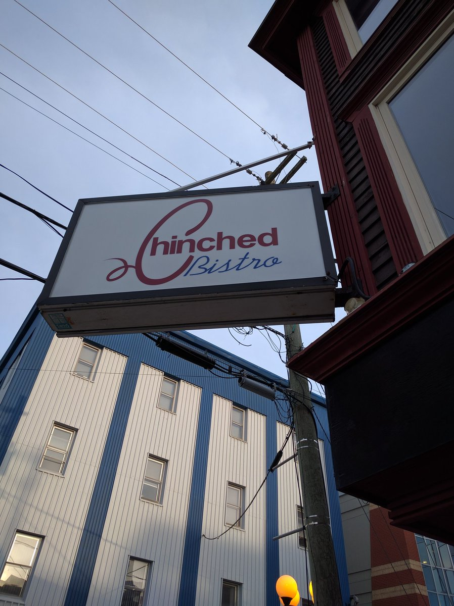 Entrance Sign at Chinched Bistro in St. John's, Newfoundland and Labrador
